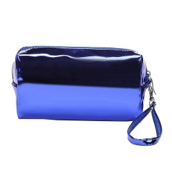 METALLIC BLUE BEAUTY CASE