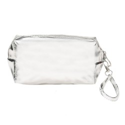 METALLIC SILVER BEAUTY CASE