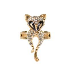 Ring Crystal Fox - Gold