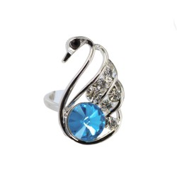 Ring Crystal Swan - Silver