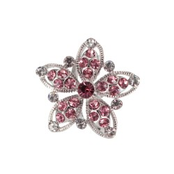 Ring Crystal Pink Flower -...