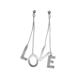 Earrings LOVE Silver