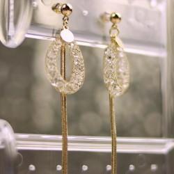 EARRINGS Gold Crystal